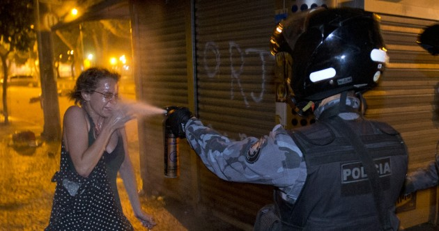 Pics: Thousands rally in Brazil – but it's not the first time a sporting event sparks protests