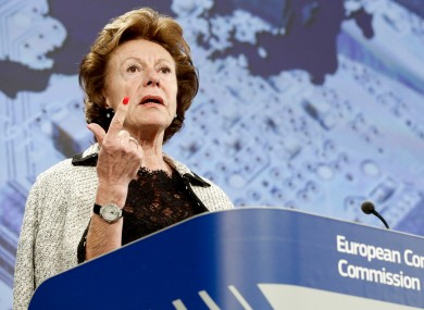 The awards were announced by the EU's digital agenda commissioner, Neelie Kroes, in London last night.