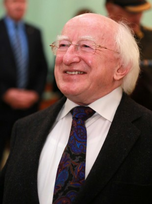 President Michael D. Higgins giving a speech at Trinity College earlier this year.