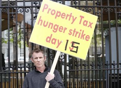 Tony Rochford has been on hunger strike for 23 days in opposition to the property tax. (Photo 1/7/13)