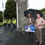 Anti-abortion protesters Michael Fowler and Joseph McNamara. Pic: Sasko Lazarov/Photocall Ireland
