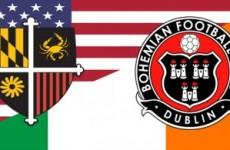 Bohemians strike up partnership with US club