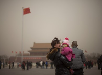 A family visits Tiananmen Square in China (File photo)