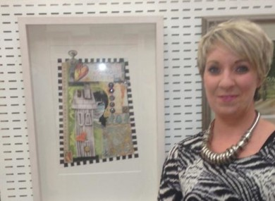 Ciara O'Keefe with one of her pieces.