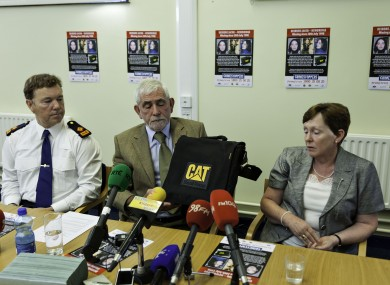 Deirdre's mother Bernadette Jacob with Crimestoppers investigators earlier today.