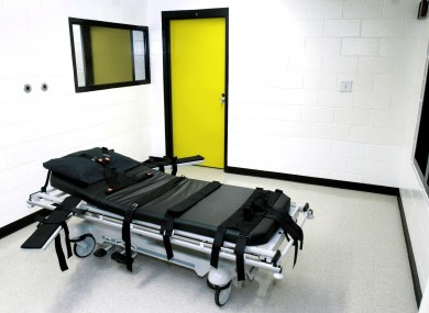 File photo of the death chamber at the state prison in Jackson, Georgia.