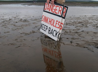 Shell to Sea's homemade warning signs