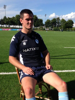 Jonny Sexton is sent to the bench to think about what he has done.
