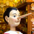 Sociopaths are comfortable with not telling the truth when it suits them. (Image: Shutterstock)