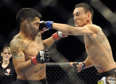 Max Holloway connects with Leonard Garcia back in December.