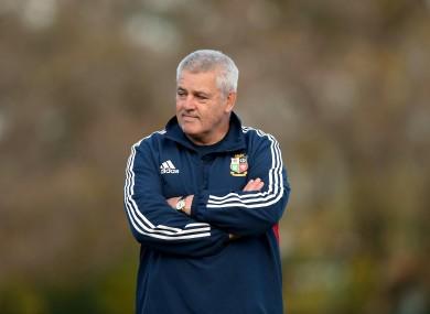 Wales head coach Warren Gatland.