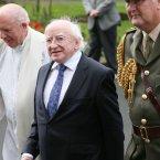 President Michael D Higgins.<span class=