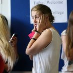 Nervous students at Ringsend College. Photo: Laura Hutton/Photocall Ireland