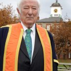 Heaney is today presented with a Distinguished Fellowship Award by Griffith College in 2012.<span class=