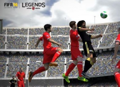 Still from Fifa 14's Legends addition.