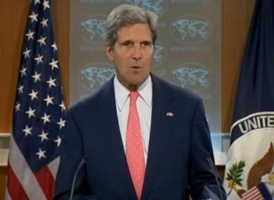 John Kerry speaking tonight