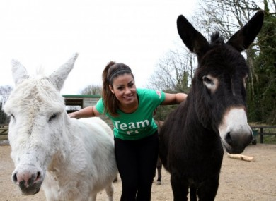 Layla Flaherty with some of the ISPCA's rescued animals.