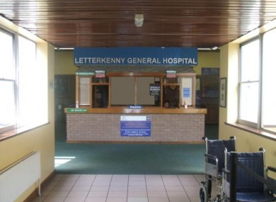 Reception area in Letterkenny Hospital (File photo)