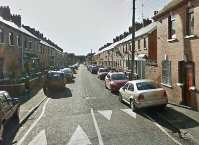 Iveagh Drive, off the Falls Road, where the man was found (File photo)
