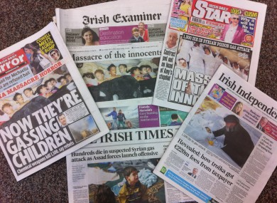Some of today's front pages