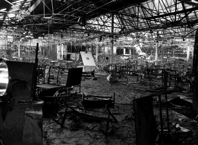 The scene of a fire at the Stardust nightclub where 48 people died on 14 February 1981