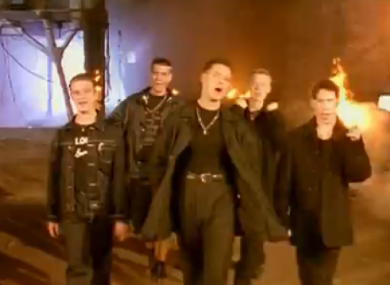 Boyzone in the So Good video