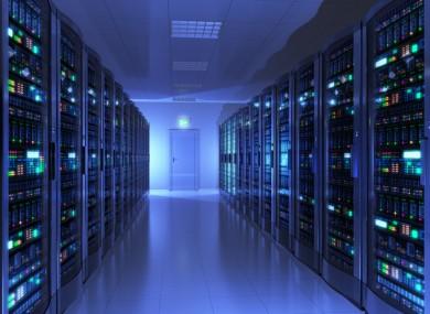 Interior of a server room