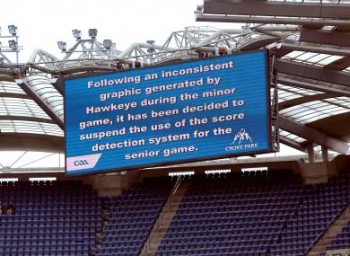 Hawk-Eye: technology error cost Limerick a point in the All-Ireland minor hurling semi.