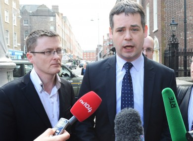 Pearse Doherty (right) is leading Sinn Féin's Seanad abolition campaign along with senator David Cullinane (left).