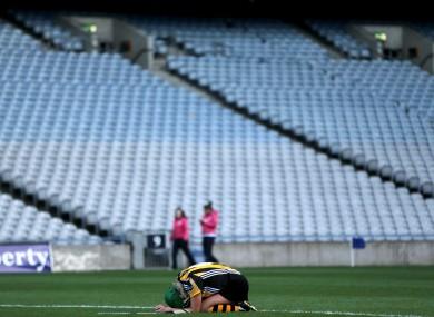 Devastated: Kilkenny's Edwina Keane after yesterday's final.