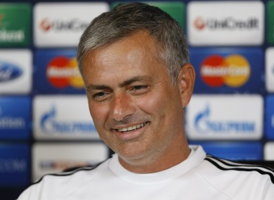 Mourinho taking questions during the week.