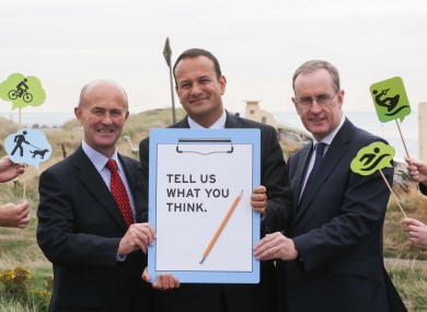 Eamonn O'Reilly, Chief Executive Dublin Port Company, Minister for Transport, Tourism & Sport, Leo Varadkar and Owen P Keegan, Dublin City Manager, Dublin City Council