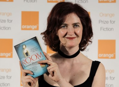 Emma Donoghue with her book Room.