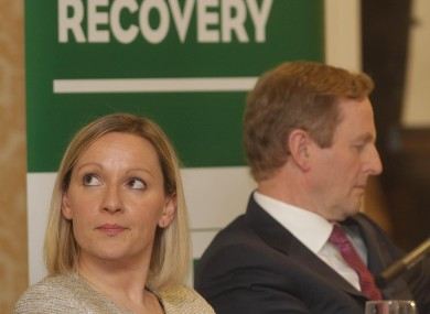 Lucinda Creighton with Taoiseach Enda Kenny before she left government