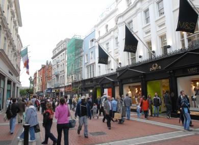 Shoppers on Grafton Street