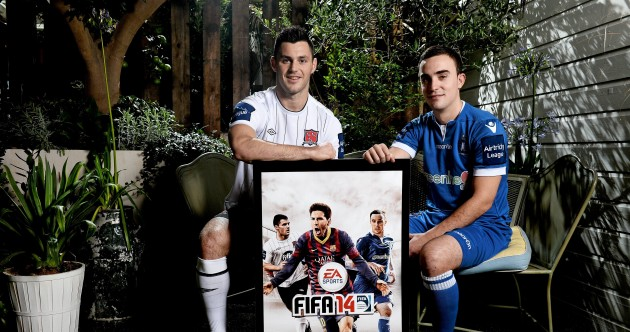 Dundalk and Limerick stars to appear on the cover of FIFA 14 with Leo Messi
