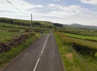 The Feystown Road area of Glenarm Co. Antrim where the deceased men were found.