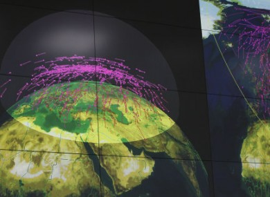 A computer screen at the missile defense facility in Sofrino near Moscow. (File photo)