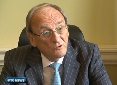 Ceann Comhairle Seán Barrett speaking to RTÉ