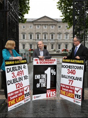 The Socialist Party launched their Seanad referendum campaign today.