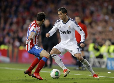 Ronaldo goes by Juanfran in last season's Copa Del Rey final.