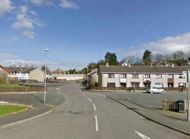 The Springdale area of Dungannon where the arson attack took place.