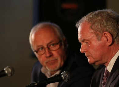 Colin Parry and Martin McGuinness.