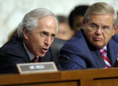 Committee Chairman Robert Menendez and ranking Republican Bob Corker