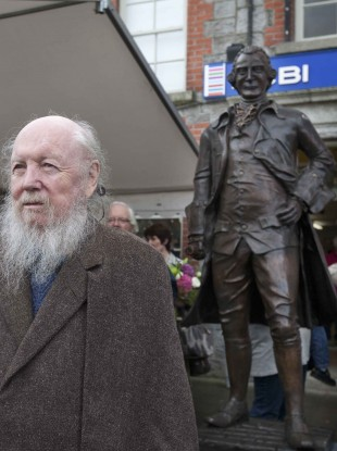 Guinness descendant Garech de Brun at the event in Celbridge Village.