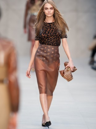 The physique of model Cara Delevigne, seen here, is not physically possible for most women, say experts, as it's