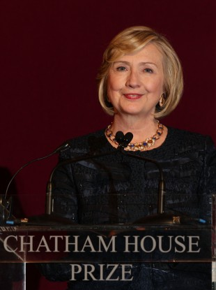Hillary Clinton at the event in London.