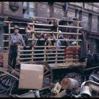 Collecting the salvage on Lower East Side (1942)<span class=
