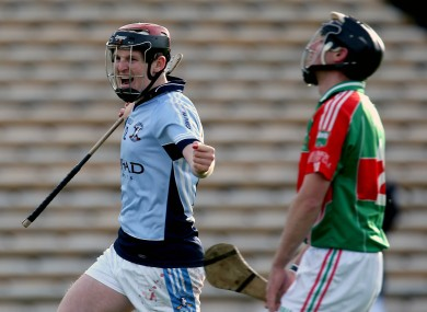 Na Piarsaigh's David Dempsey celebrates scoring their second goal of the game.