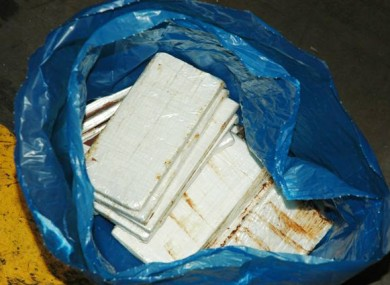 Cocaine seizure. (File photo)